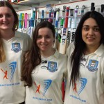 University Of Sheffield Women's Cricket Team collecting their new kit from B46